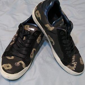 Zadig & Voltaire Black Leather Shoes Skeletons